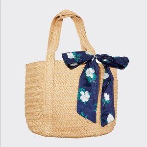 🆕Draper James Straw Bag w/ Floral Scarf